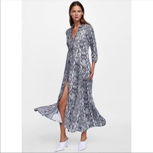 Zara animal print snake dress